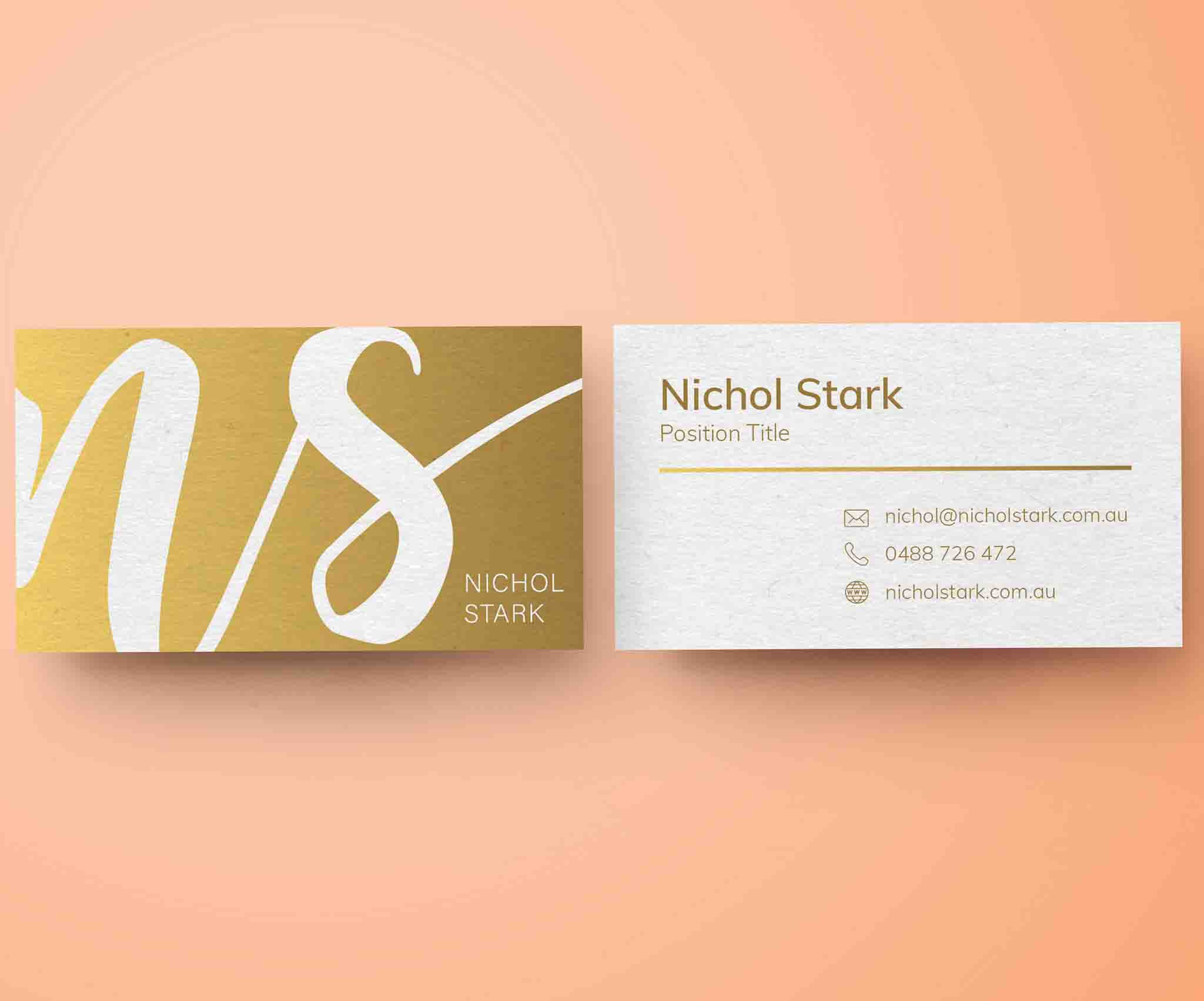 VIsual Brand Logo Business Card